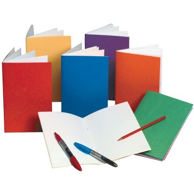 Hygloss Rainbow Bright Blank Book, 8-1/2 x 11 Inches, 6 Books with 12 Sheets Each