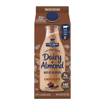 Live Real Farms Dairy Chocolate AlmondMilk Blend - 0.5gal