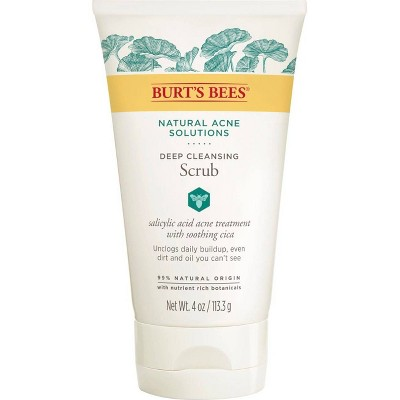 Burt's Bees Natural Acne Solutions Pore Refining Scrub - 4oz