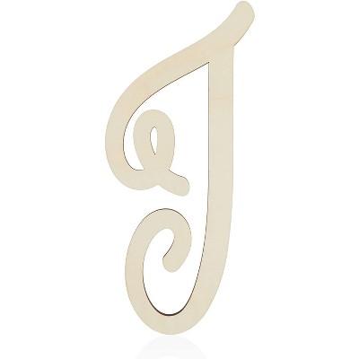Unfinished Wood Monogram Letter I (13 in.)