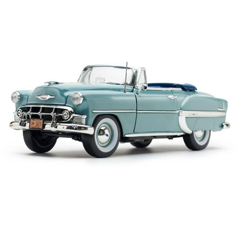 1953 Chevrolet Bel Air Open Convertible Horizon Blue 1/18 Diecast Model Car by Sunstar - image 1 of 4