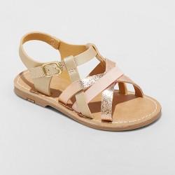 Toddler Girls' Elsa Strappy Sandals - Cat & Jack™ Gold