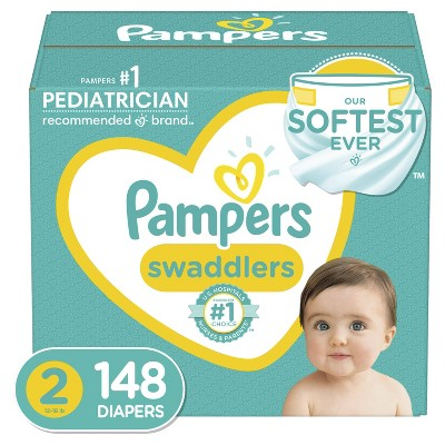 Pampers Swaddlers Disposable Diapers - Size 2 - 148ct