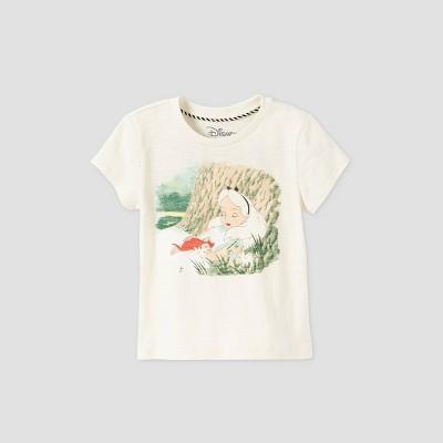 Toddler Girls' Disney Alice in Wonderland Short Sleeve Graphic T-Shirt - Beige - Disney Store