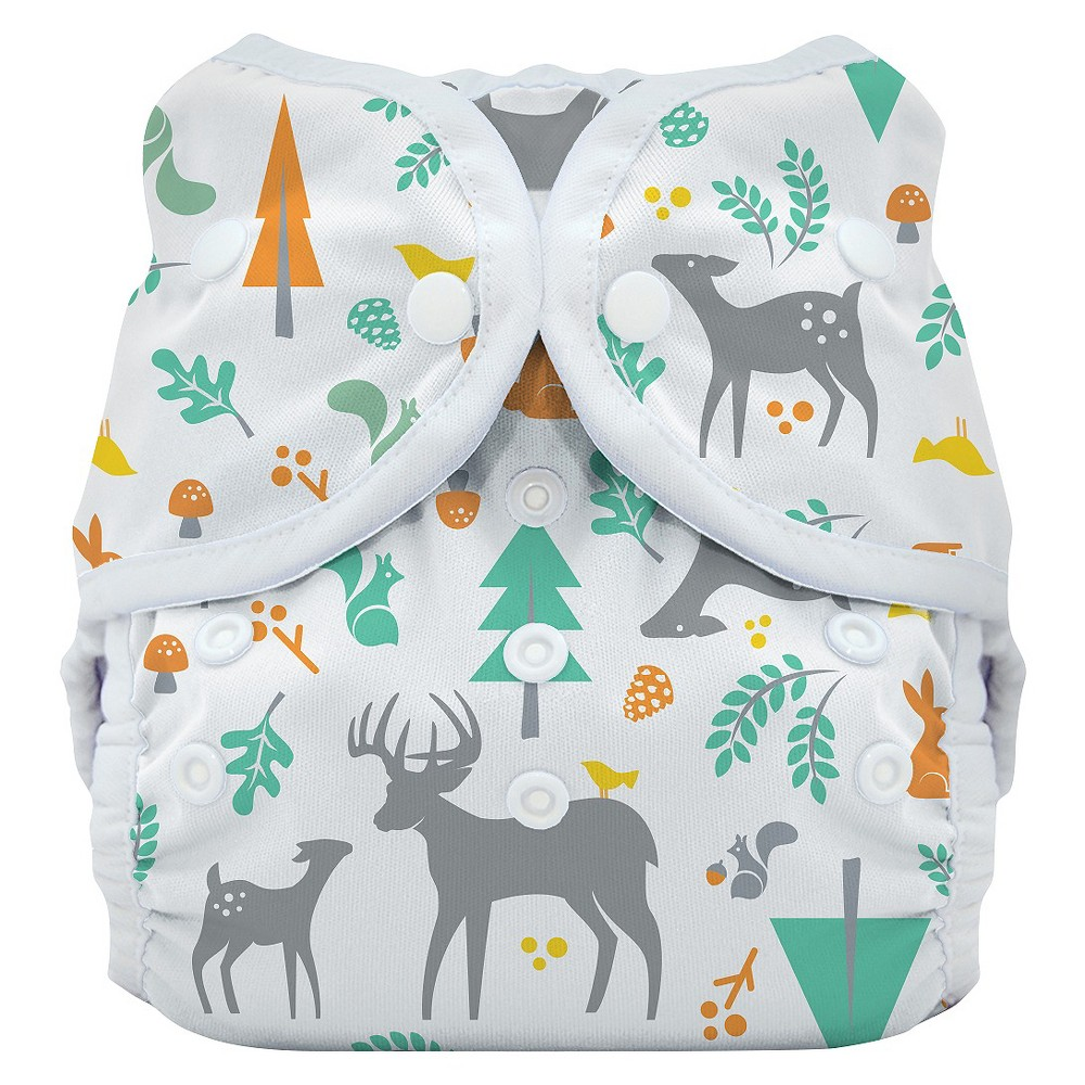 Thirsties Snap Duo Wrap, Woodland - Size Two, Infant Unisex