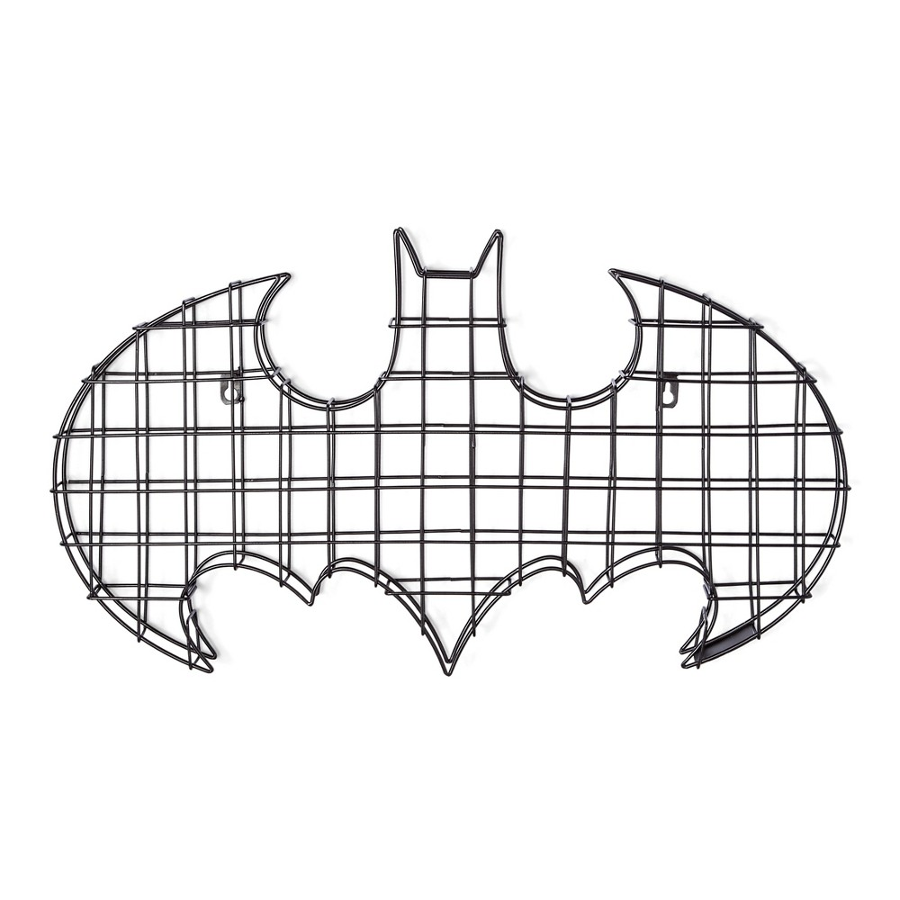 "Image of ""Batman Logo Black Wire Wall Decor (24""""x14"""")"""