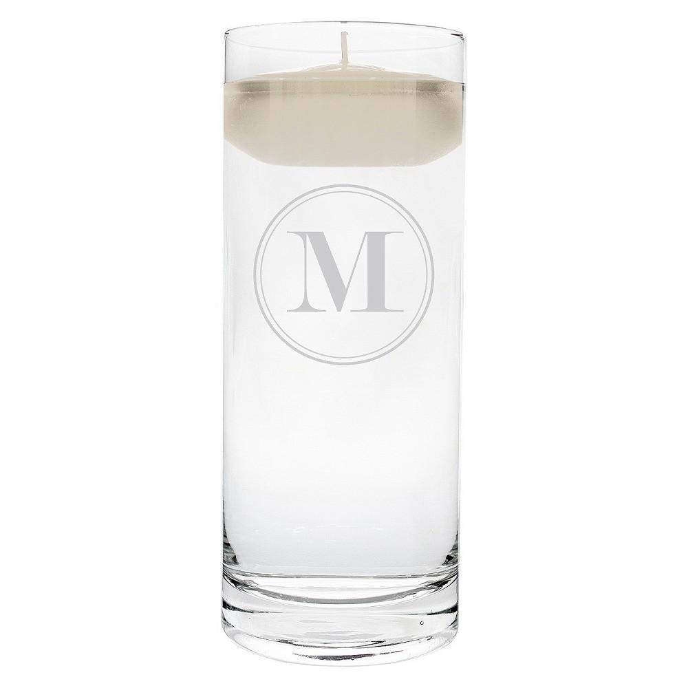 'm' Monogram Floating Wedding Candle