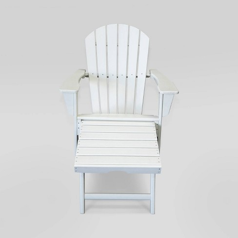 Hampton Outdoor Patio Adirondack Chair with Hideaway Ottoman - LuXeo   - image 1 of 4
