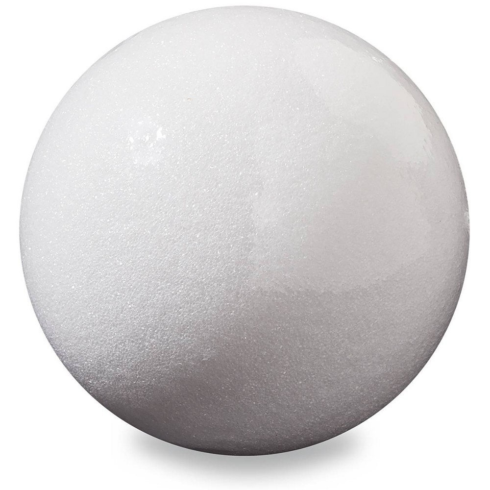 "Image of ""FloraCraft 6"""" Foam Ball - White"""