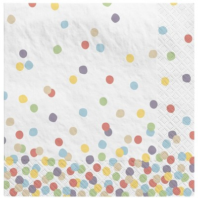 30ct Dotted Disposable Lunch Napkins - Spritz™