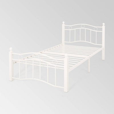 Twin Bouvardia Contemporary Iron Bed - Christopher Knight Home