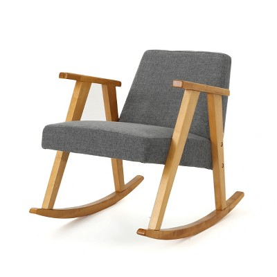 Nevies Mid Century Modern Rocking Chair - Christopher Knight Home : Target