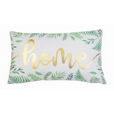 3pk Becca Harris Home Botanical Pillow Set White Green Dcor Therapy Target