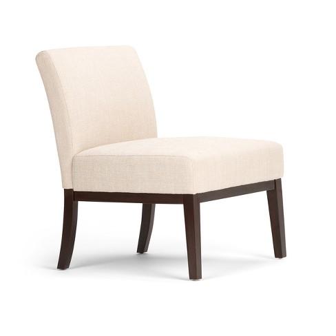 Amazing Seville Accent Chair Natural Linen Look Fabric Wyndenhall Short Links Chair Design For Home Short Linksinfo