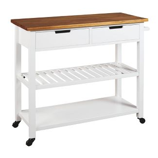 Withurst Kitchen Cart White/Light Brown - Signature Design by Ashley