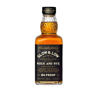 Rock and Rye Slow and Low Whiskey - 750ml Bottle