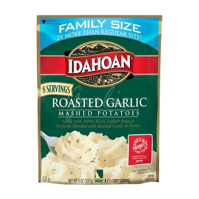 Idahoan Roasted Garlic Mashed Potatoes Family Size - 8oz