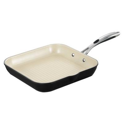 "Tramontina Gourmet Ceramica Deluxe 11"" Square Grill Pan - Black"