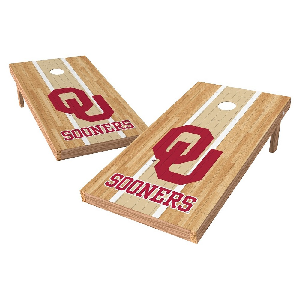 NCAA Wild Sports2' x 4' Heritage Design Authentic Cornhole Set Oklahoma Sooners