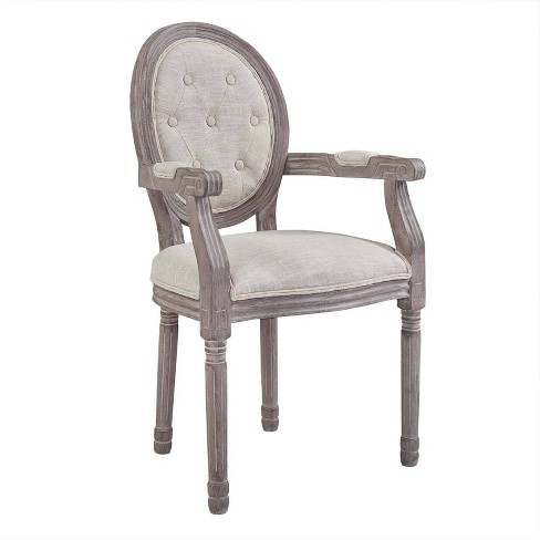 Arise Vintage French Upholstered Fabric Dining Armchair - Modway - image 1 of 5