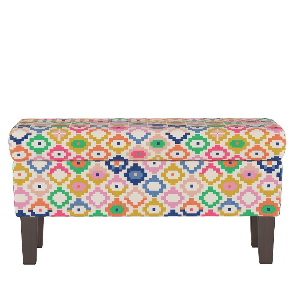 Storage Bench in Catalina - Cloth & Co., Multi-Colored