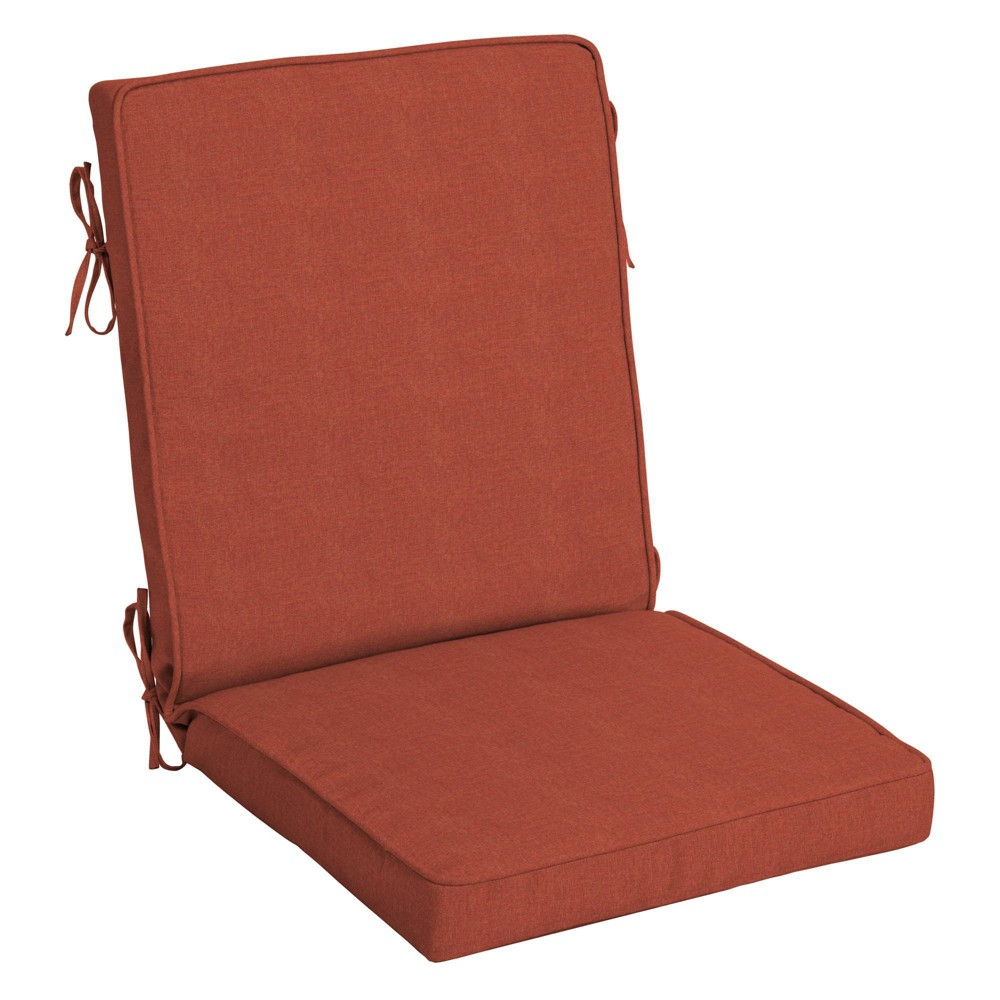 Arden Selections Sedona Valencia Woven Outdoor Welted High Back Chair Cushion Red