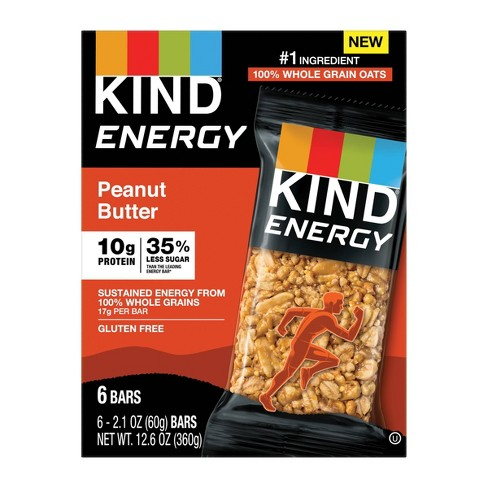 KIND Energy Bar Peanut Butter - 12.6oz/6ct - image 1 of 3
