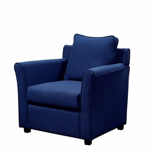 Peachy Cabico Upholstered Accent Chair Royal Blue Mibasics Machost Co Dining Chair Design Ideas Machostcouk