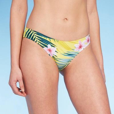 Women's Medium Coverage Hipster Bikini Bottom - Kona Sol™ Tropical Print M