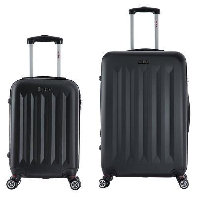 InUSA Philadelphia 2pc Hardside Spinner Luggage Set - Black
