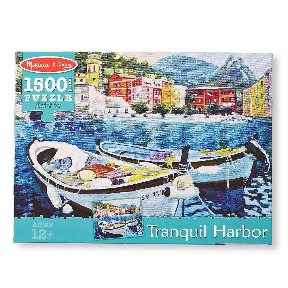 Melissa & Doug 1,500pc Tranquil Harbor Jigsaw Puzzle (nearly 2 x 3 feet) 1500pc