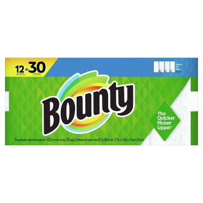 Bounty Select-A-Size White Paper Towels 12 Doubles Plus - 138ct