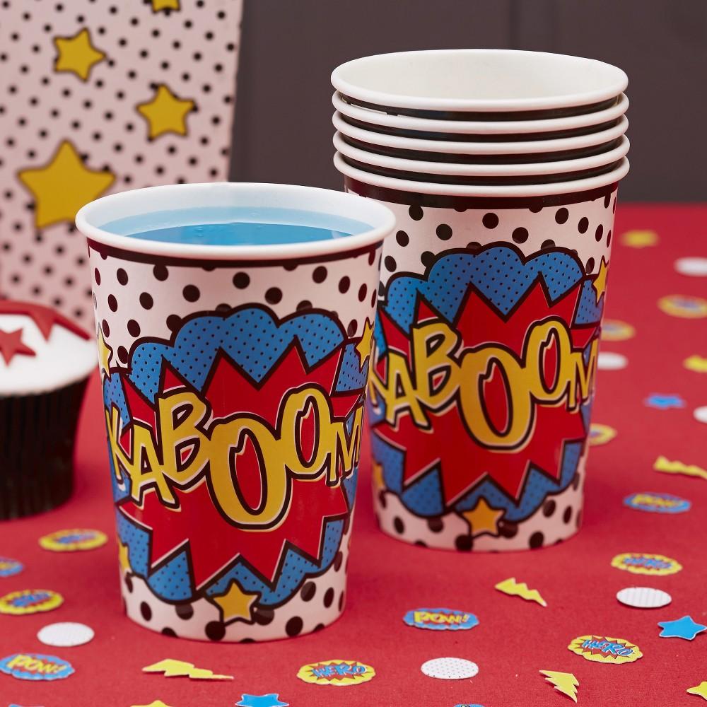Image of 8ct Comic Superhero Paper Cups