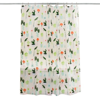 Plants Shower Curtain Green - Room Essentials™