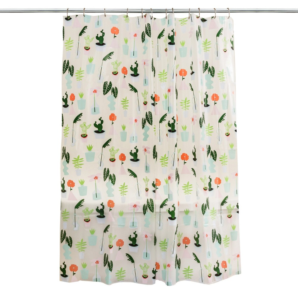 Plants Shower Curtain Green - Room Essentials, Climbing Vine Opaque