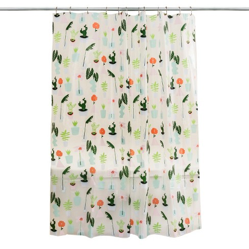 Plants Shower Curtain Green