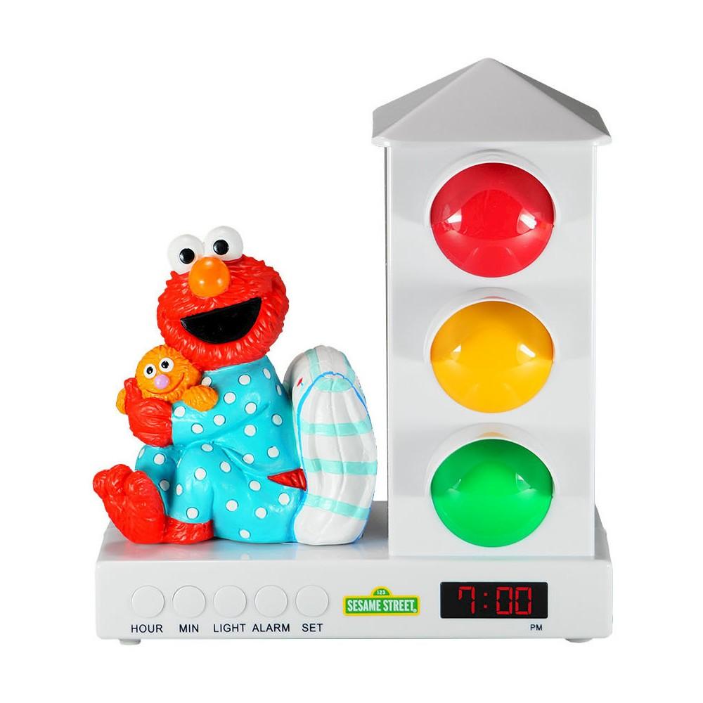 Sesame Street Elmo with Pillow Stoplight Sleep Enhancing Alarm Clock, Multi-Colored