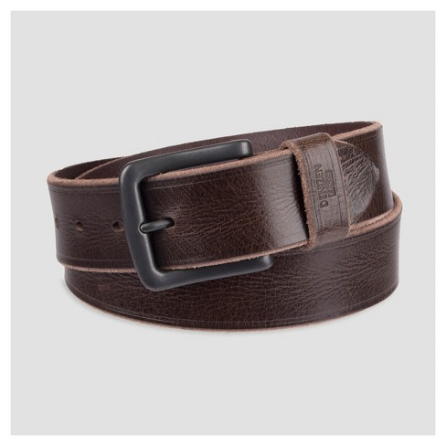Denizen® From Levi s® Men s 40mm Raw Edge Leather Belt - Brown   Target a81e9962a84