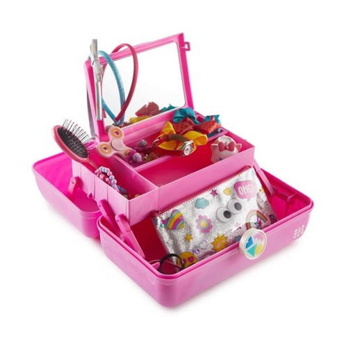 Retro Caboodles On the Go Girl Case Pink Marble - image 1 of 4