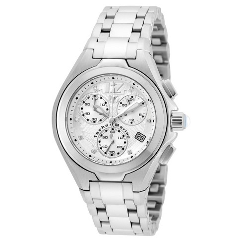 Women's Technomarine TM-215022 Manta Neo Classic Quartz Silver Dial Link Watch - Silver - image 1 of 1