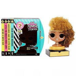L.O.L. Surprise! O.M.G. Styling Head Royal Bee with Stick-On Hair