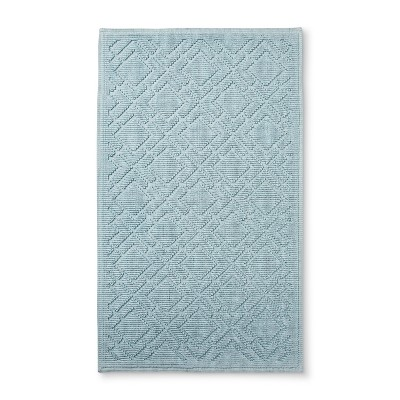 34 x20  Lattice Bath Mat Dusty Blue - Fieldcrest®