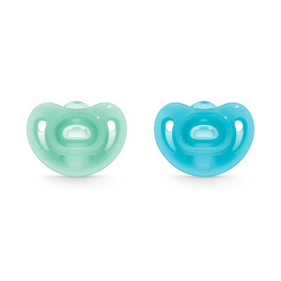 NUK Pacifier 2pk Sz1 Sensitive - Blue