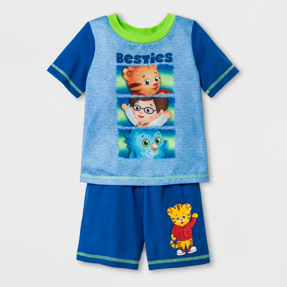 Toddler Boys' Daniel Tiger 2pc Short Sleeve Poly Pajama Set - Blue 3T