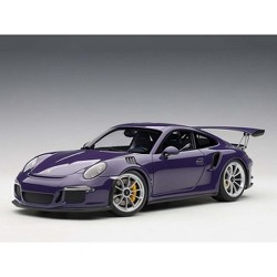 Porsche 911 (991) GT3 RS Ultra Violet with Silver Wheels 1/18 Model Car by Autoart