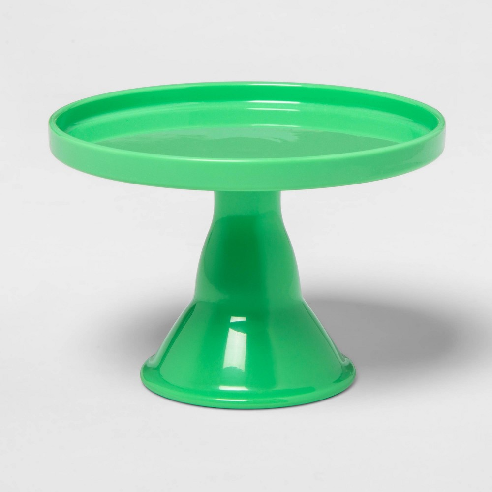 "Image of ""4.5"""" Plastic Cake Serving Stand Green - Spritz"""