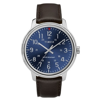 Men's Timex Watch With Leather Strap - Brown TW2R85400JT