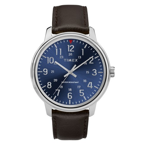 Men's Timex Watch With Leather Strap - Brown TW2R85400JT - image 1 of 3
