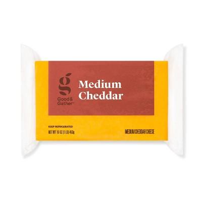 Medium Cheddar Cheese - 16oz - Good & Gather™