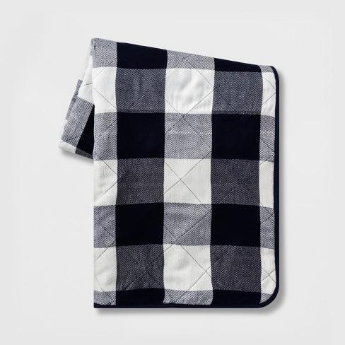 Gingham Picnic Blanket Blue/White - Threshold™ - image 1 of 1
